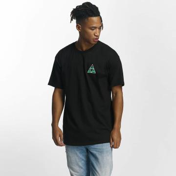HUF t-shirt Dimensions Triangle zwart