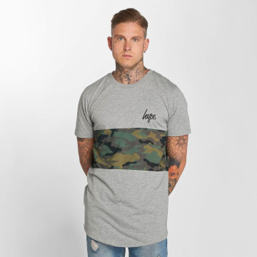 HYPE T-Shirt Camo Panel grau