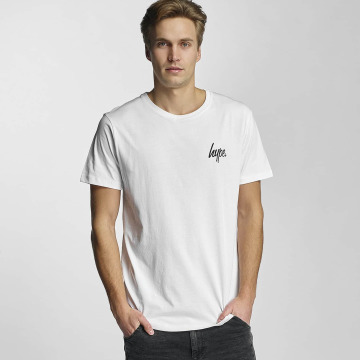 HYPE T-Shirt Green Leaf Infill white