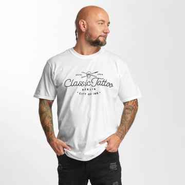 I Love Tattoo T-shirt City Of Ink bianco