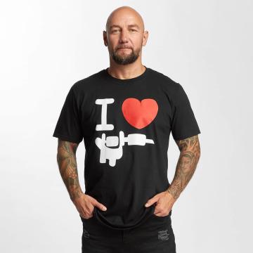 I Love Tattoo T-Shirt Basic noir