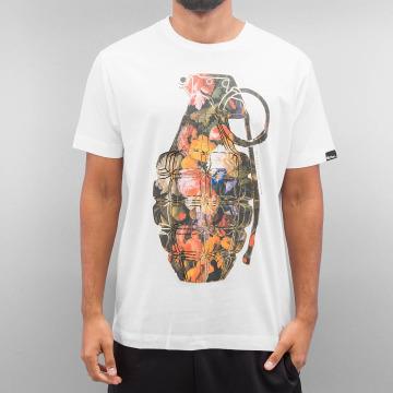 Ichiban t-shirt Floral Granade wit