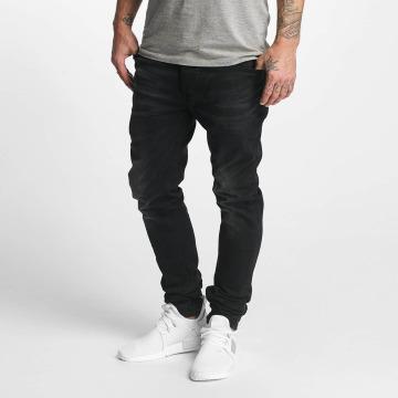 ID Denim Straight Fit Jeans Skinny Low Rise Tapered Leg svart