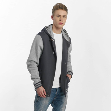 Iriedaily College Jacke Daily Hooded blau