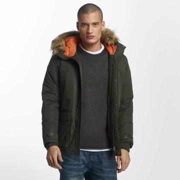 Jack & Jones Зимняя куртка jjorMountain оливковый