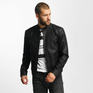 Jack & Jones Leather Jacket jjorOriginals PU Leather black