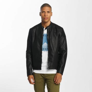 Jack & Jones Leather Jacket jorYour black
