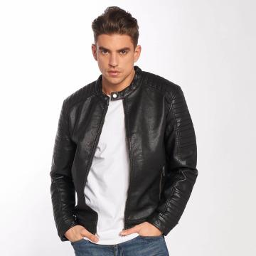 Jack & Jones Leather Jacket jcoSergio black