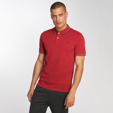 Jack & Jones Polo jjeContrast Stripe rouge