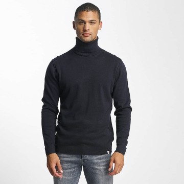 Jack & Jones Pullover jorLinking Knit Roll Neck blau