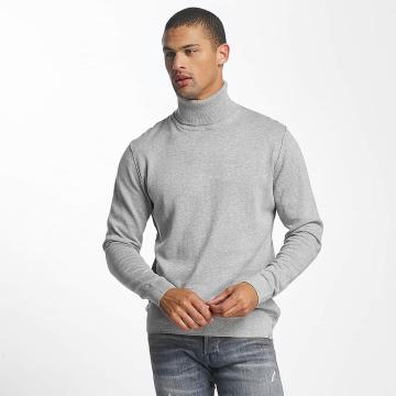 Jack & Jones Pullover jorLinking Knit Roll Neck grau