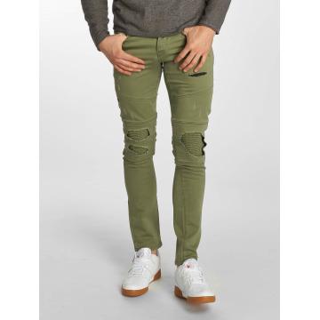 Jack & Jones Skinny jeans jjiGlenn jjJaxx Biker olijfgroen