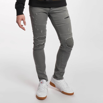 Jack & Jones Slim Fit Jeans jjiGlenn jjJaxx Biker grau