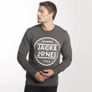 Jack & Jones Swetry jcoGeometric szary