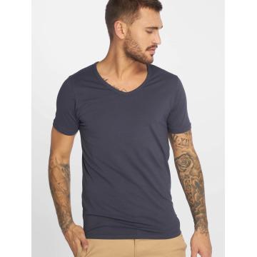 Jack & Jones T-Shirt Core Basic V-Neck bleu