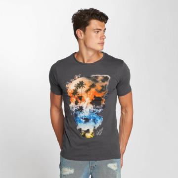 Jack & Jones T-Shirt jorSmokeskull gris