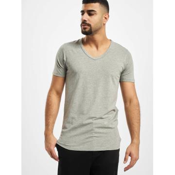 Jack & Jones T-Shirt Core Basic V-Neck gris