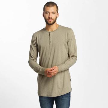 Jack & Jones T-Shirt manches longues jorStitch brun