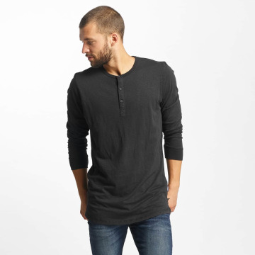 Jack & Jones T-Shirt manches longues jorStitch noir