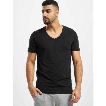 Jack & Jones T-Shirty Core Basic V-Neck czarny