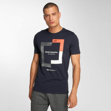 Jack & Jones T-Shirty jcoBoshof niebieski