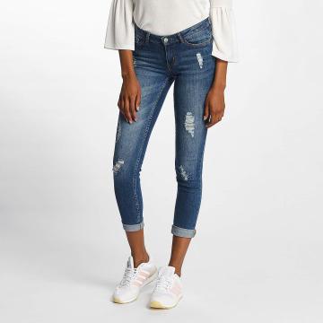 JACQUELINE de YONG Облегающие джинсы jdySkinny Low Flora синий