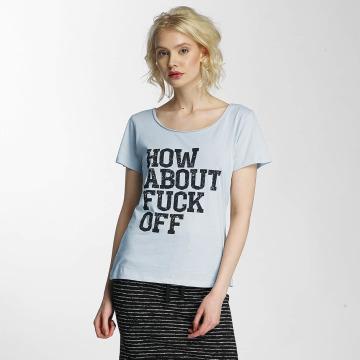 JACQUELINE de YONG T-Shirt jdyGlow Print blau
