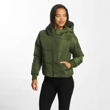 JACQUELINE de YONG Winter Jacket jdyRocca Cropped Hoody green