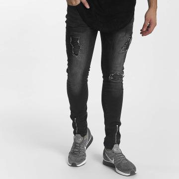 John H Jeans ajustado Zipper negro
