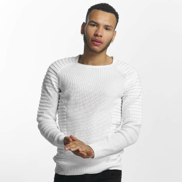 John H Pullover Knit Ribbed weiß