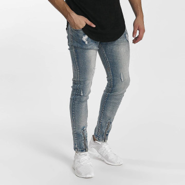 John H Slim Fit Jeans Destroyed blå