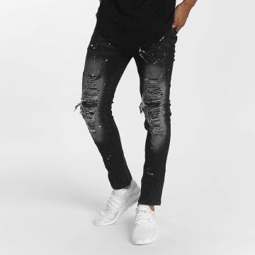 John H Slim Fit Jeans Color Blobs black