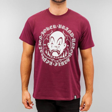 Joker T-Shirt Circle Clown rot