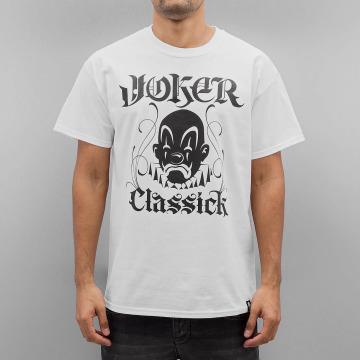 Joker T-Shirty Classick Clown bialy