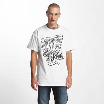 Joker T-skjorter Drama hvit