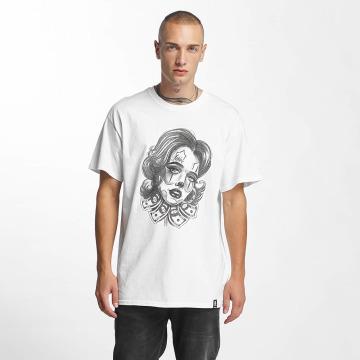 Joker T-skjorter Money Girl hvit
