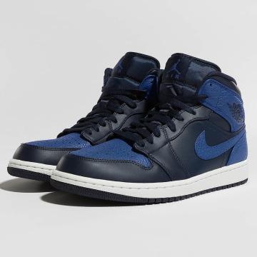 Jordan Сникеры 1 Mid синий