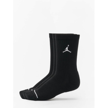 Jordan Calcetines 3 Pack Cotton Crew negro