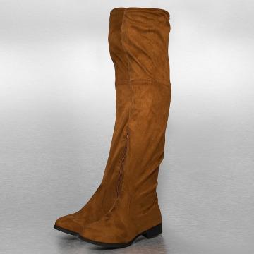 Jumex Bota Overknees marrón
