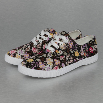 Jumex Sneaker Summer Flower Low schwarz