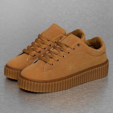 Jumex Sneakers Basic Plateau brazowy