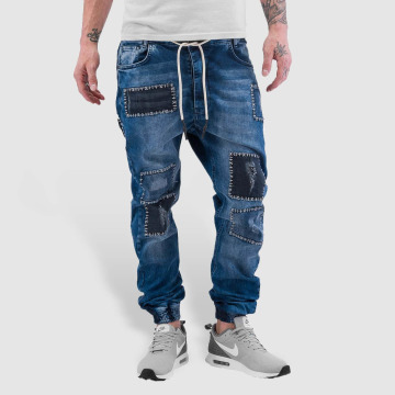 Just Rhyse Dżinsy straight fit Patches niebieski
