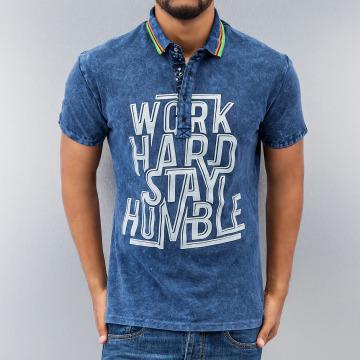 Just Rhyse Poloshirt Work Hard blau