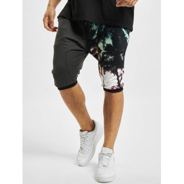 Just Rhyse Shorts Palmen schwarz