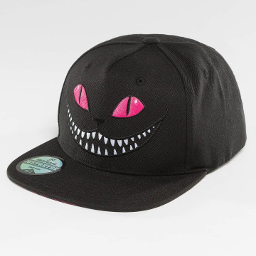 Just Rhyse Snapback Cap Grinning Cat black