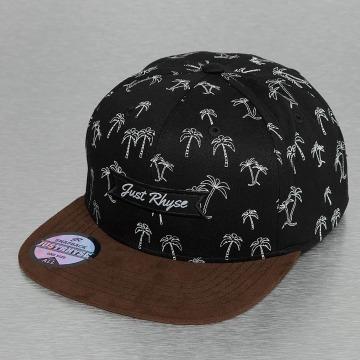 Just Rhyse snapback cap Island Mountain zwart