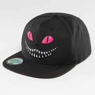 Just Rhyse snapback cap Grinning Cat zwart