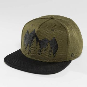 Just Rhyse Snapback Caps Malaspina Starter olivový