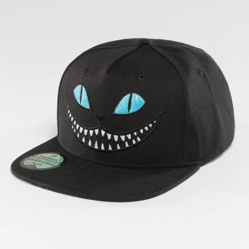 Just Rhyse Snapback Caps Grinning Cat svart