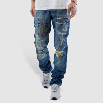 Just Rhyse Straight Fit Jeans Patch blå